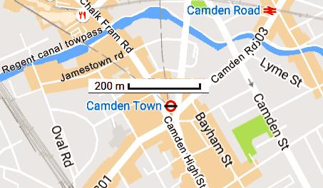 Camden Town Little Venice regent canal Londres