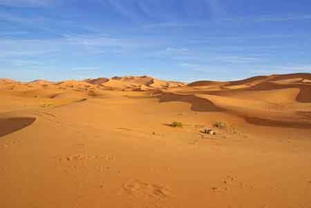 Les dunes de Merzouga sud maroccain