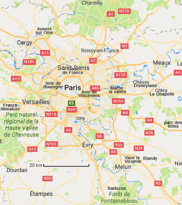 Paris Informations Cartes Tourisme Region Parisienne