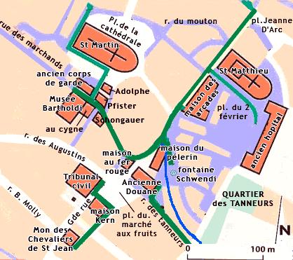 Centre Ville Colmar Plan