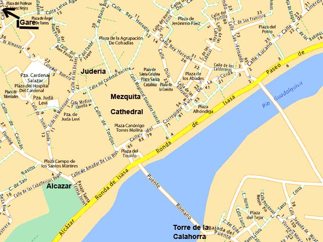 Cordoue cordoba en andalousie visite avec carte plan informations utiles - Office de tourisme cordoue ...