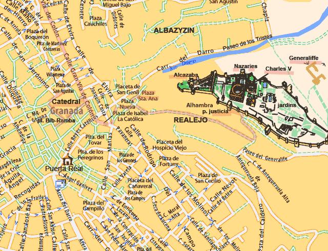 Grenade Andalousie Plan De La Ville