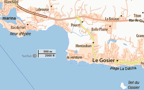 guadeloupe Le Gosier plus importante station balnéaire