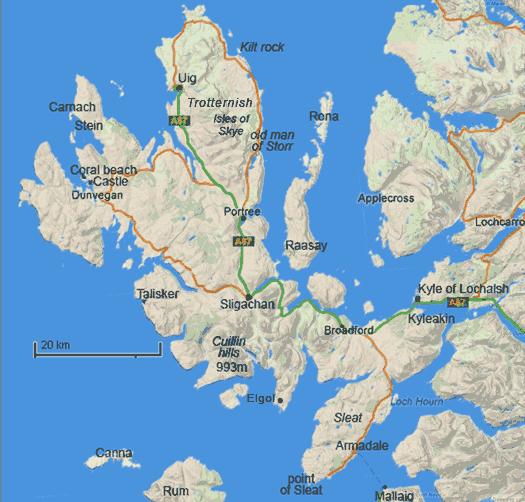 Populaire l'île de Skye Highlands d' Ecosse Hébrides extérieures XS78