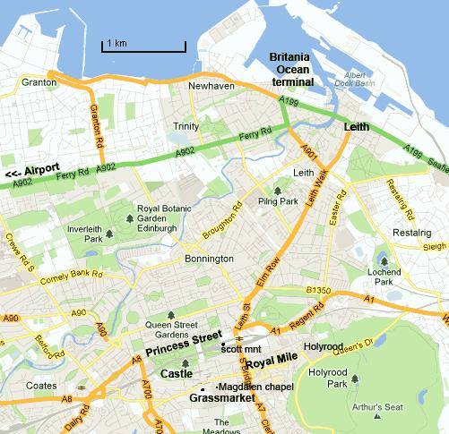Carte Vieille Ville D Edimbourg