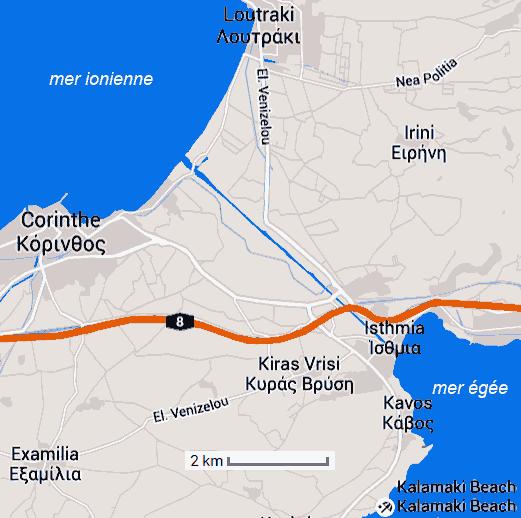 isthme canal de Corinthe en grèce