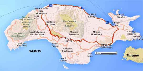 Samos le la plus orientale de la mer eg e grece for Dessin ville orientale