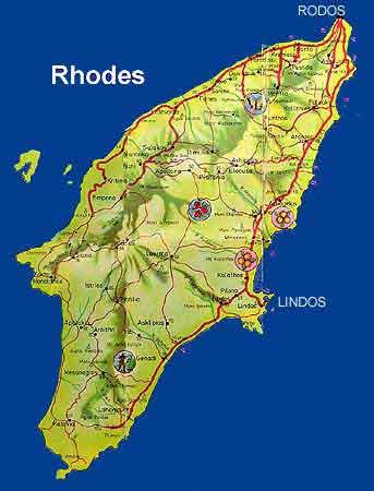 Rhodes grèce ville plage ruines antiques