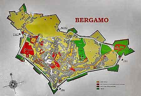 Bergame ville médiévale et renaissance en Italie du Nord visite