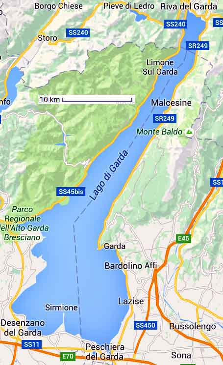 map lac de garde