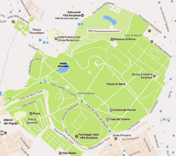 Parc De La Villa Borghese Rome