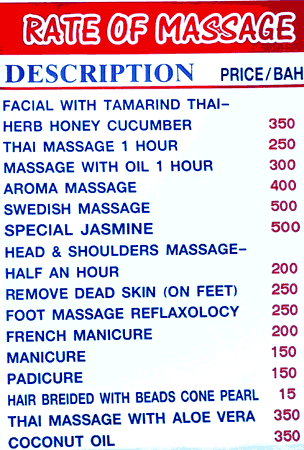 prix tarifs massages hotel.