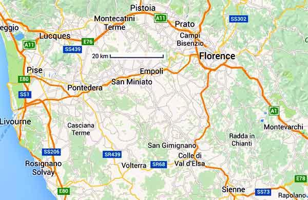 Cartes et liens utiles en Toscane Italie