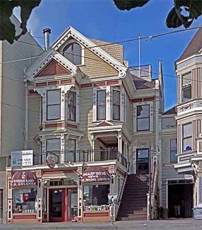 San francisco painted ladies seal point cath drale - Maison de style victorien ...