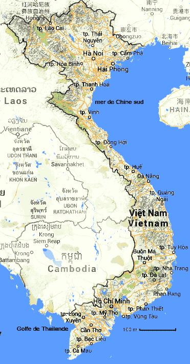 Mer Thailande Carte.Carte Vietnam Vung Tau Map 2019 10 27