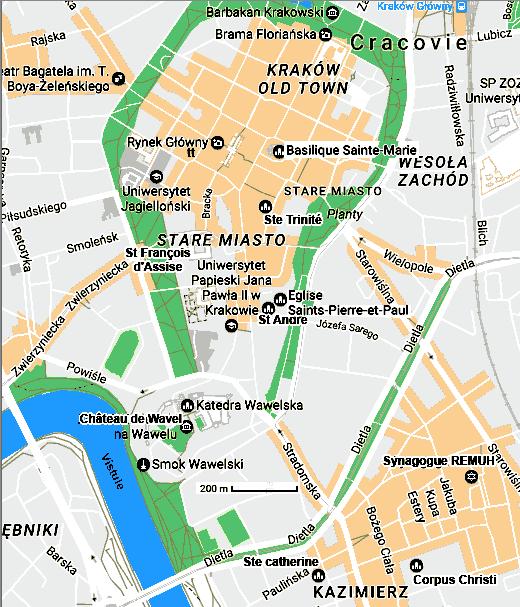 Cracovie Capitale De La Petite Pologne Carte Monuments Culture