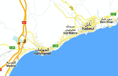 Carte Tunisie Hammamet.Tunisie Hammamet Nabeul Carte Choix Hotel Voir Faire