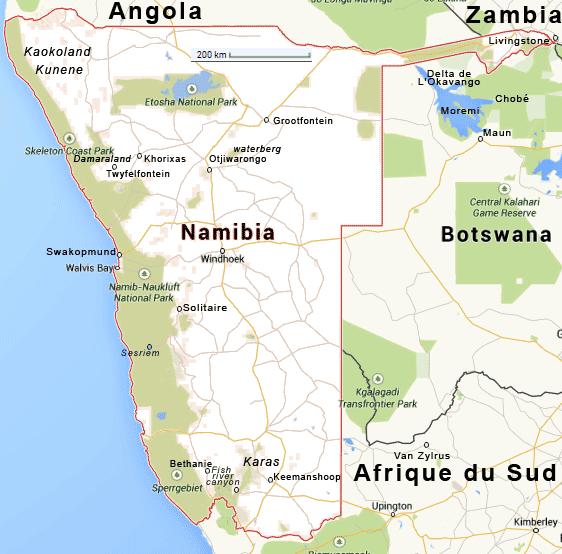 Carte Afrique Du Sud Namibie.Safari Croix Sud Afrique Namibie Botswana Zambie Okavango