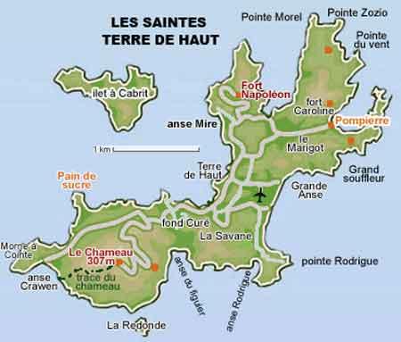 guadeloupe les Saintes terre de haut Antilles FWI informations