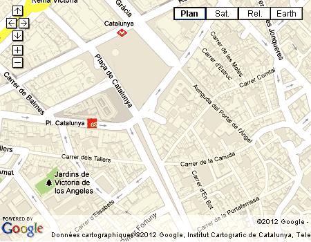 Carte Barcelone Place Despagne.Barcelone La Place De Catalogne Catalunya Place D Espagne