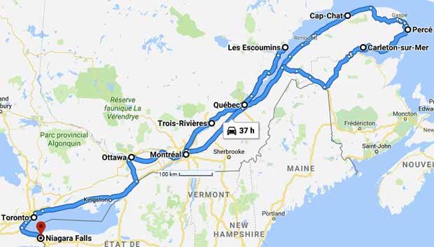 Voyage Au Canada Quebec Ontario Informations Cartes Liens Utiles