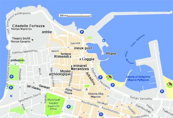Carte Routiere Crete En Francais.Rethymnon En Crete Cartes Et Informations Pratiques
