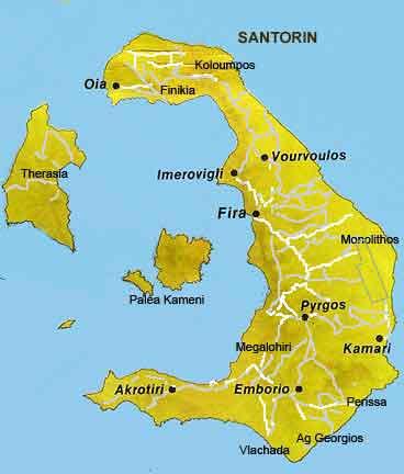 carte marine iles cyclades partie est