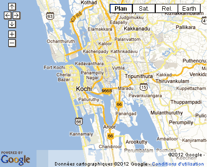 Carte Inde Kochi.Kochi Ou Cochin Kerala Basilique Santa Cruz Eglise St