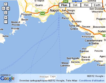 Carte Baie De Naples