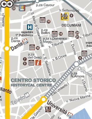 Carte Du Centre Historique De Naples