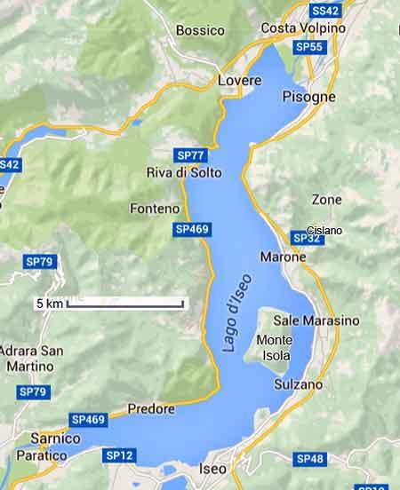 Lac Iseo en italie du nord infos photos