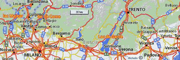 carte routière italie du nord Plans cartes de l'Italie du nord : interactive, zones touristiques