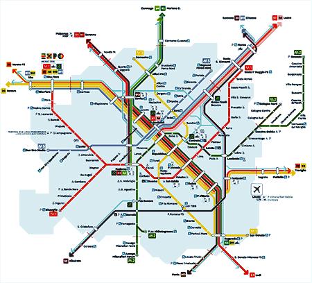 Plan Du Centre Ville De Milan